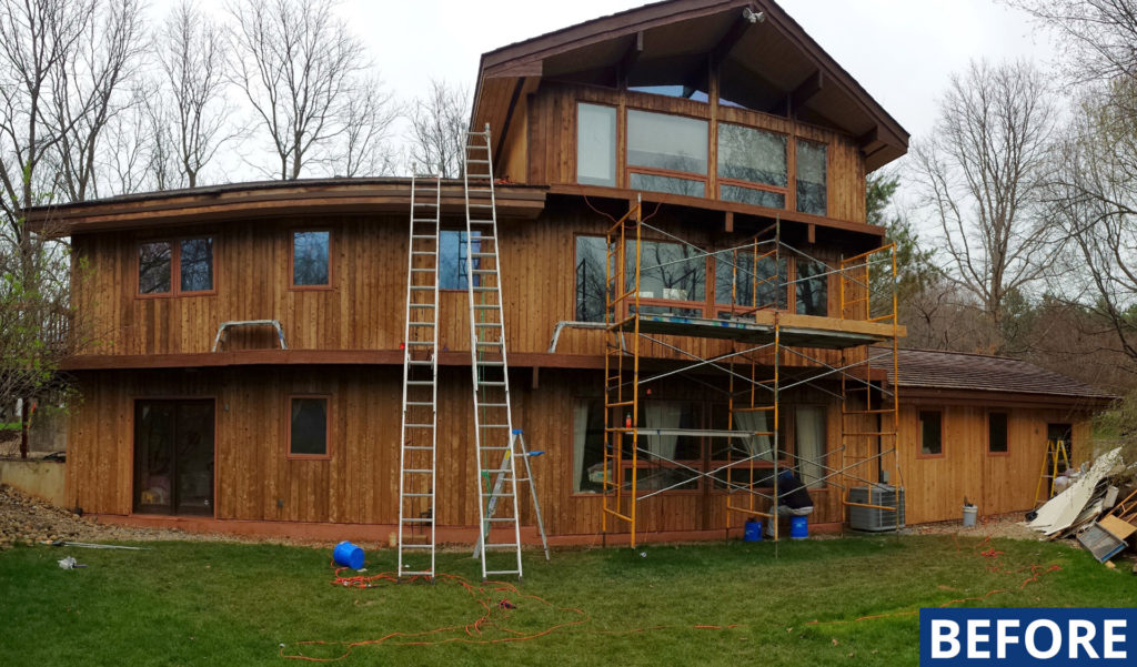 Oakland County Exterior Wood Staining